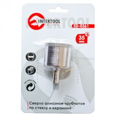 Коронка трубчаста по склу та кераміці 35 мм INTERTOOL SD-0361